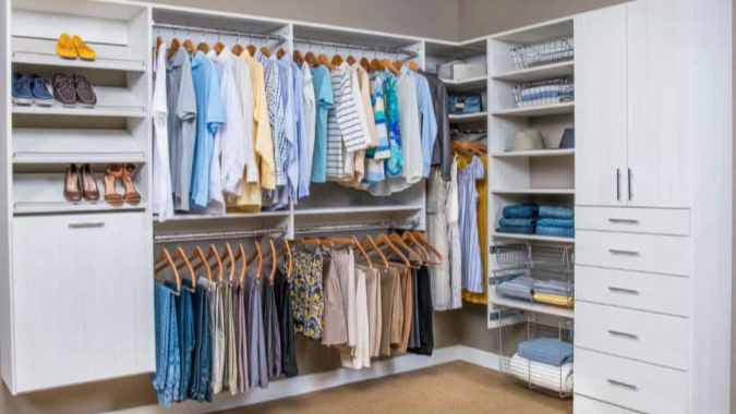 Update your closets with custom closet storage systems in Marietta GA.